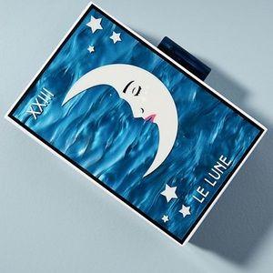 Celestial Le Lune Lucite Clutch Purse Anthro NWOT